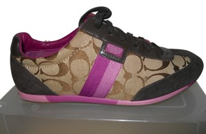 Coach Leather Suede brown, tan & purple Athletic