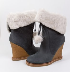 Jessica Simpson Holla Suede Faux Fur Midnight Nubuck Boots - item med img