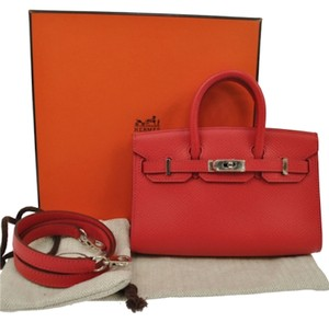 Hermès Birkin Micro Satchel in Red