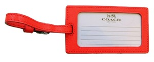 Coach Coach Darcy Leather Luggage Tag F67743 Orange