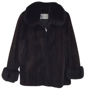 Beaver Fox Fur Black Fur Coat