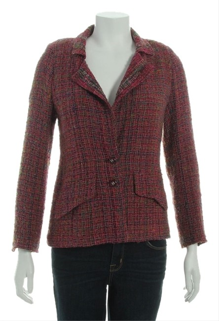 Item - Purple Boutique Wool Blend Tweed Jacket Size 6 (S)