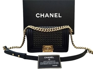 Chanel Chanel Le Boy Braided Black Leather Limited Ed Bag Wallet chain