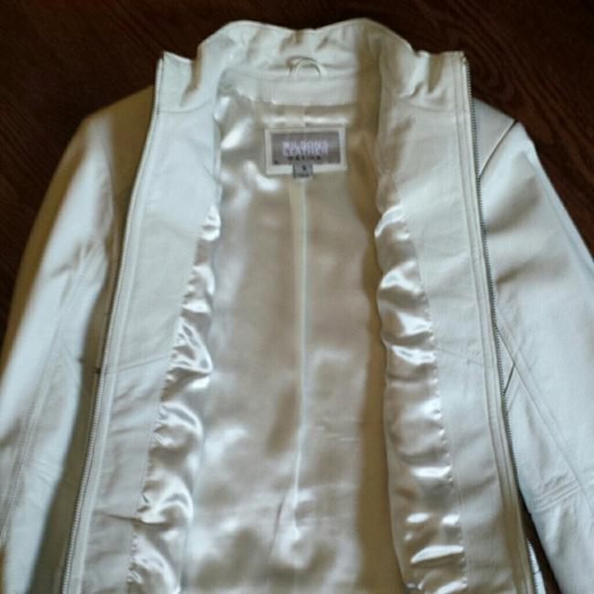 Wilsons Leather Motorcycle White Leather Jacket
