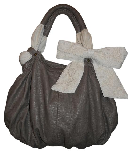 Item - Reserved For Stephanie Deux Leux Convertable Grey/Taupe Pvc & Cotton Hobo Bag