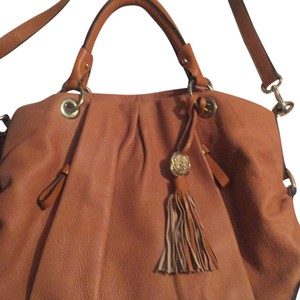 Vince Camuto Leather Cristina Satchel in Ginger
