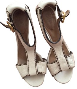 Chloé Cream Wedges