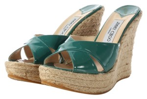 Jimmy Choo Patent Leather Wedge Platform Wedges
