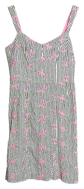 Nanette Lepore short dress Multicolor Embroidered Striped B&w Floral on Tradesy