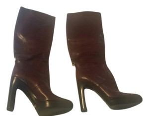 Gucci Tall Leather Tall Leather Leather Brown Boots