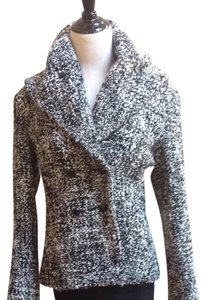 Avenue Montagne Paris Black & White Tweed Blazer