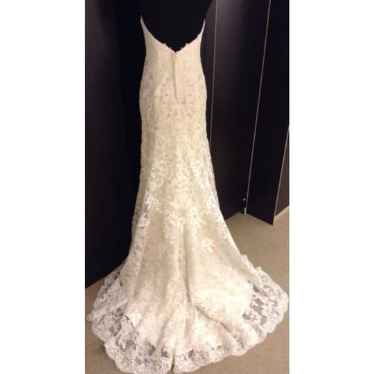Maggie Sottero Lace Wedding Gown: Maggie Sottero Ivory/Gold Ombre Lace Brittania Formal