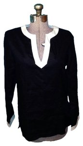 Ralph Lauren New With Tags Linen Oversized Top Black and white