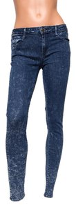 "Earnest Sewn Mid-rise 29"" Inseam Acid Wash Skinny Jeans-Acid"