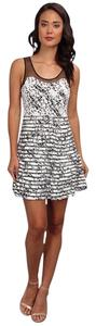 Parker short dress Black Splatter on Tradesy