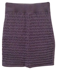 Silence + Noise Mini Skirt Medium Blue