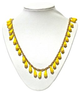 Kate Spade Kate Spade New York Yellow Beaded Shimmer Long Necklace
