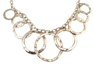 "Cellini Sterling Silver 16"" Circle Necklace"