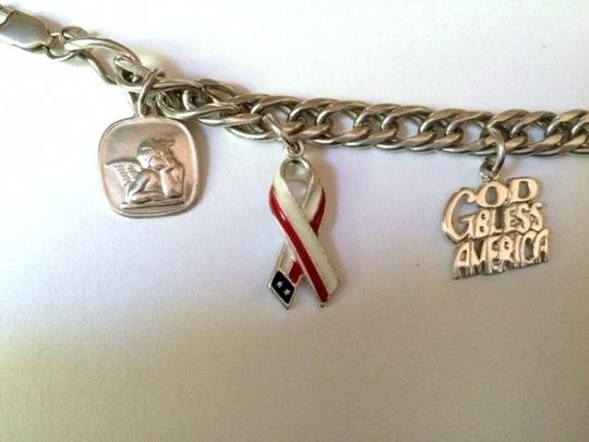 Other Sterling Silver .925 Patriotic Charm Bracelet with 6 Charms