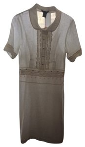 White Maxi Dress by Saja Nwt Linen Red Details