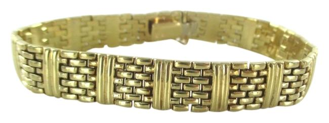 Aurafin Gold 14kt Solid Yellow Made In Italy Bars and Links No Scrap Bracelet Aurafin Gold 14kt Solid Yellow Made In Italy Bars and Links No Scrap Bracelet Image 1