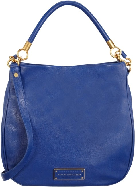 Item - 'too Hot To Handle' Blue Leather Hobo Bag