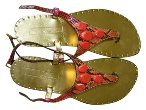 Michael Kors Couture Coral reptile Sandals