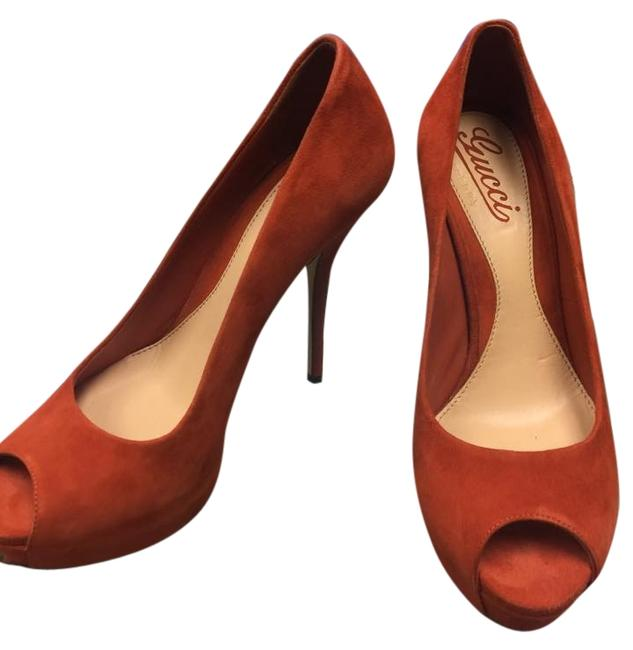 Gucci Brown Pumps Size US 6.5 Regular (M, B) Gucci Brown Pumps Size US 6.5 Regular (M, B) Image 1