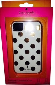 Kate Spade Kate Spade White with Gold Polka Dots Hardshell Hybrid Case Cover iPhone 4/4S