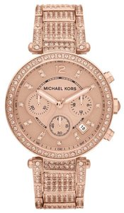 Michael Kors BRAND NEW Michael Kors Rose Gold-Tone Glitz Parker Watch MK5663