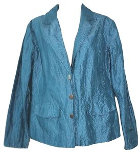 Chico's Embroidered Teal Blazer