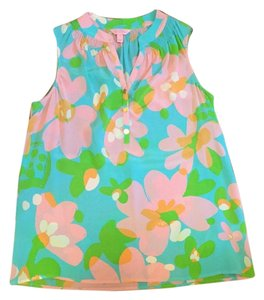 Lilly Pulitzer Top Shorely Blue Mojo
