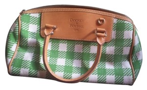 Dooney & Bourke White green leather brown Clutch