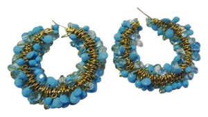 Real Collectibles by Adrienne Real Collectibles by Adrienne Faux Turquoise Chip Pierce Hoop Earrings
