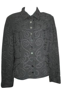 Jones New York Soutache Black Blazer