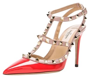 Valentino Rockstud Pumps Red Sandals