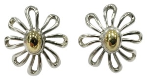 Tiffany & Co. Tiffany & Co. Sterling Silver & 18k Yellow Paloma Picasso Daisy Post Earrings