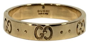 """Gucci Gucci 18K Yellow 4mm Small """"GG"""" Ring Size 7"""