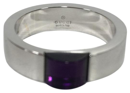Preload https://img-static.tradesy.com/item/6262666/gucci-18k-white-band-with-amethyst-center-size-675-ring-0-0-540-540.jpg