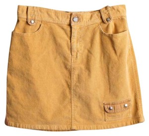 Marc Jacobs Corduroy Mini Skirt Yellow