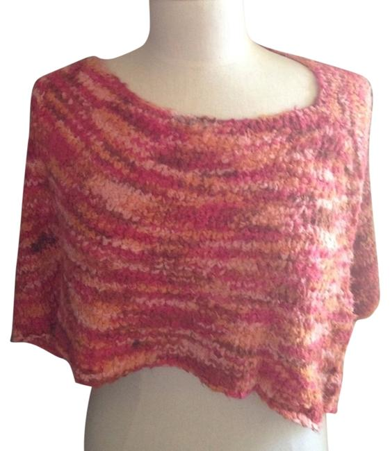 Orange Red Hues Shrug Super Soft Comfortable. Crochet Poncho/Cape Size OS (one size) Orange Red Hues Shrug Super Soft Comfortable. Crochet Poncho/Cape Size OS (one size) Image 1