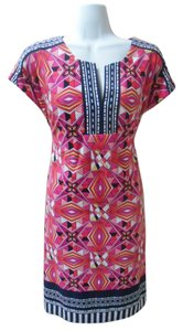 Laundry by Shelli Segal Pink Geometric Work Dress