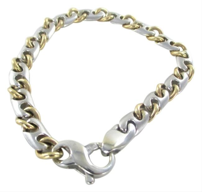 Gold 14kt Solid Yellow White Curb Link Italy 31.1 Grams No Scrap Jewel Bracelet Gold 14kt Solid Yellow White Curb Link Italy 31.1 Grams No Scrap Jewel Bracelet Image 1