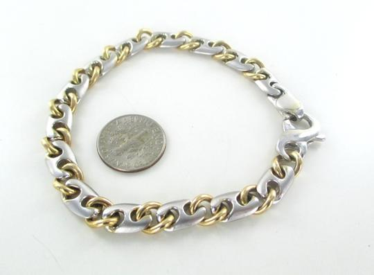 Other 14KT SOLID YELLOW WHITE GOLD BRACELET CURB LINK ITALY 31.1 GRAMS NO SCRAP JEWEL