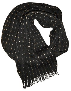 Other Spotted Polka-Dot Fringed Soft Scarf