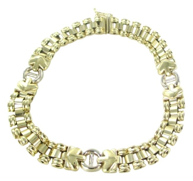 Gold 14kt Solid Yellow Made In Italy Designer Link 24.2 Grams Bracelet Gold 14kt Solid Yellow Made In Italy Designer Link 24.2 Grams Bracelet Image 1