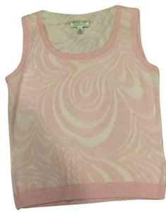St. John Top pink and white
