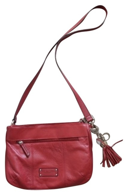 Tignanello Leather Red Cross Body Bag Tignanello Leather Red Cross Body Bag Image 1