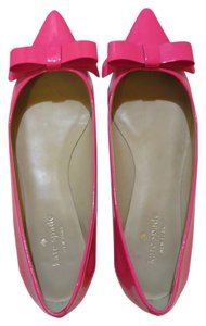 Kate Spade Gabe Pink Bow Patent Leather Patent Leather Zinia pink Flats