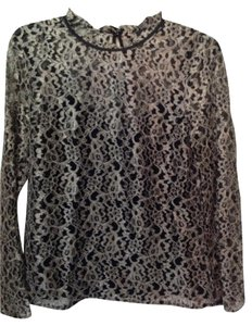 Ted Baker Top Black And Golden Lace